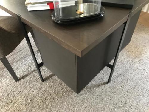 Biurko skóra/drewno/metal